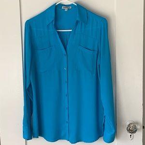 EXPRESS Portofino Shirt In Aqua 💧💧